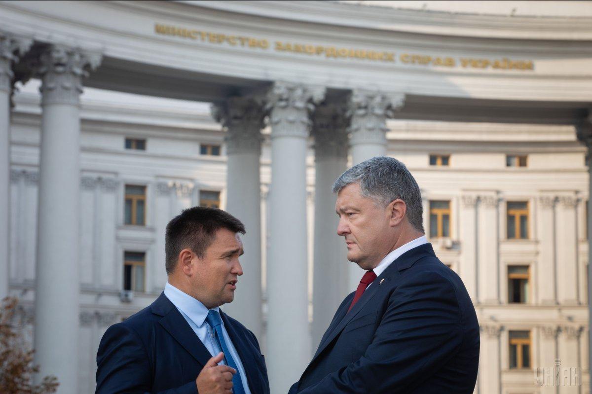 НАБУ открыло производство в отношении экс-министра Климкина и бывшего президента Порошенко / фото УНИАН