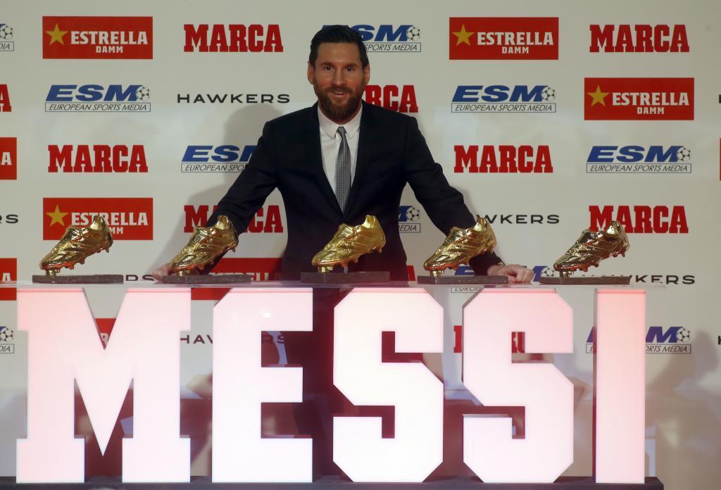 Лионель Месси выиграл пятую Золотую бутсу в карьере / twitter.com/marca