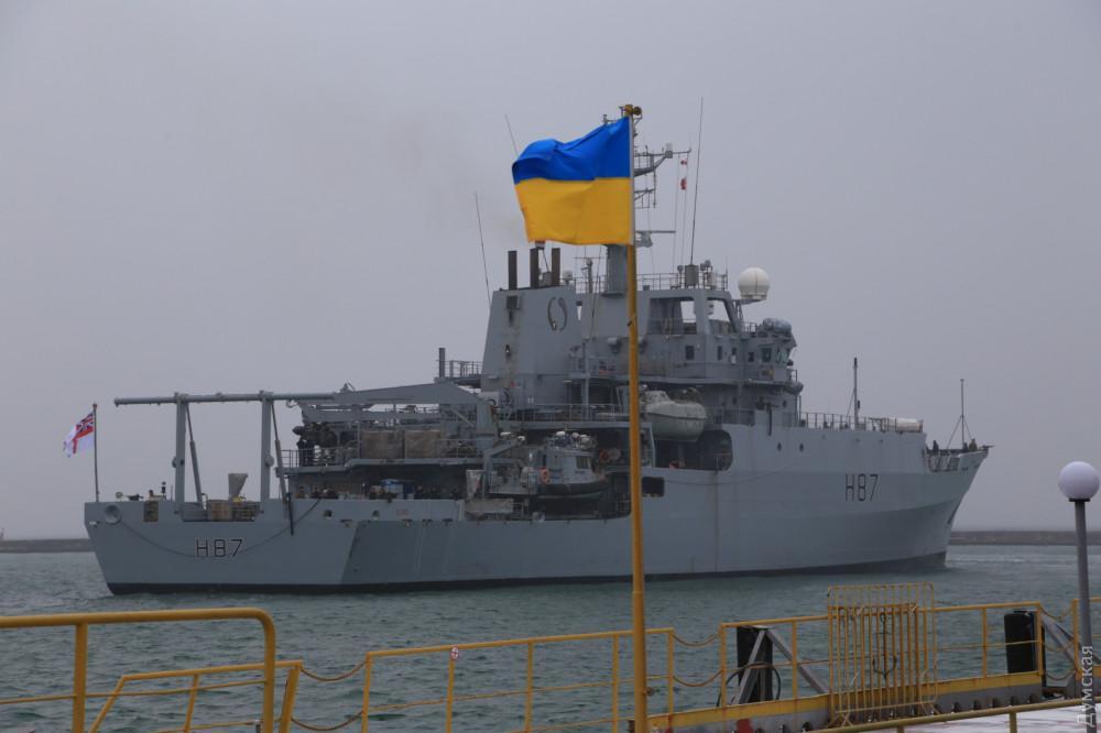 Корабель королівського флоту Великобританії прибув в Україну / фото Думська