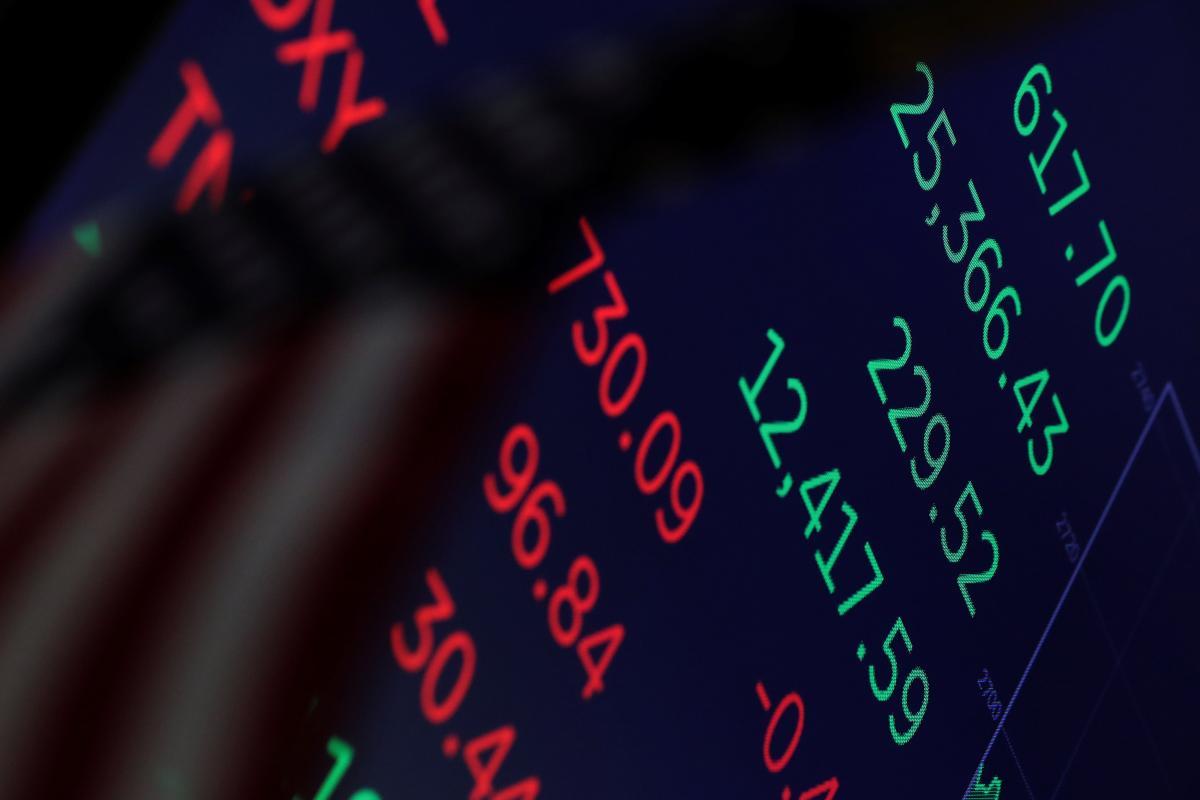 Индекс Dow Jones упал больше чем на400 пунктов