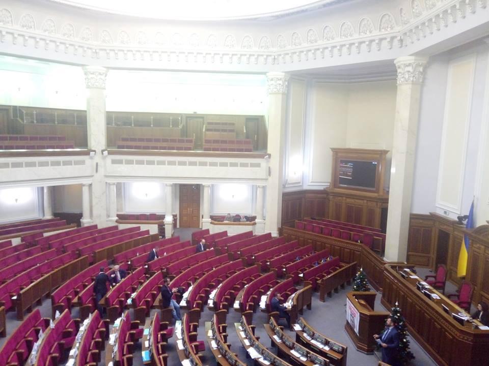 В сессионном зале было лишь чуть более 10 депутатов / фото Tania Poliakovska, Facebook