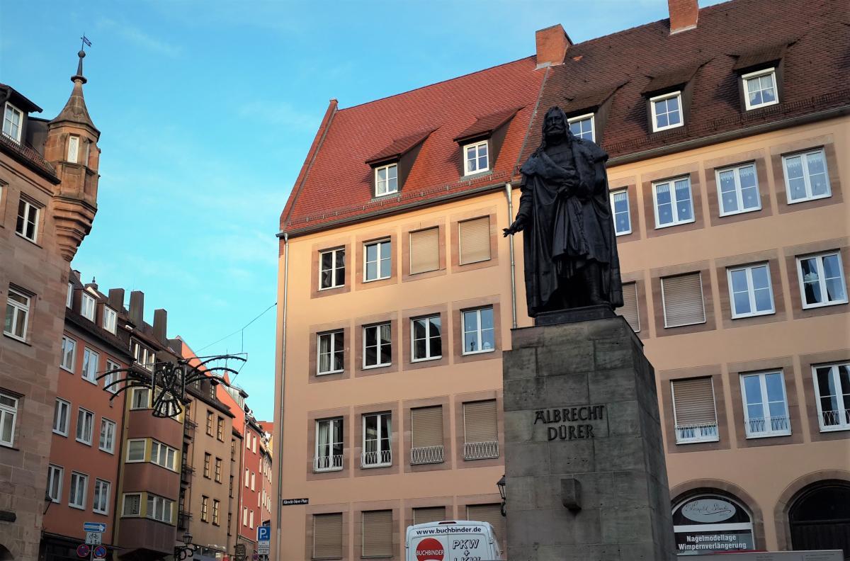 Памятник Альбрехту Дюреру в Нюрнберге / Фото Марина Григоренко