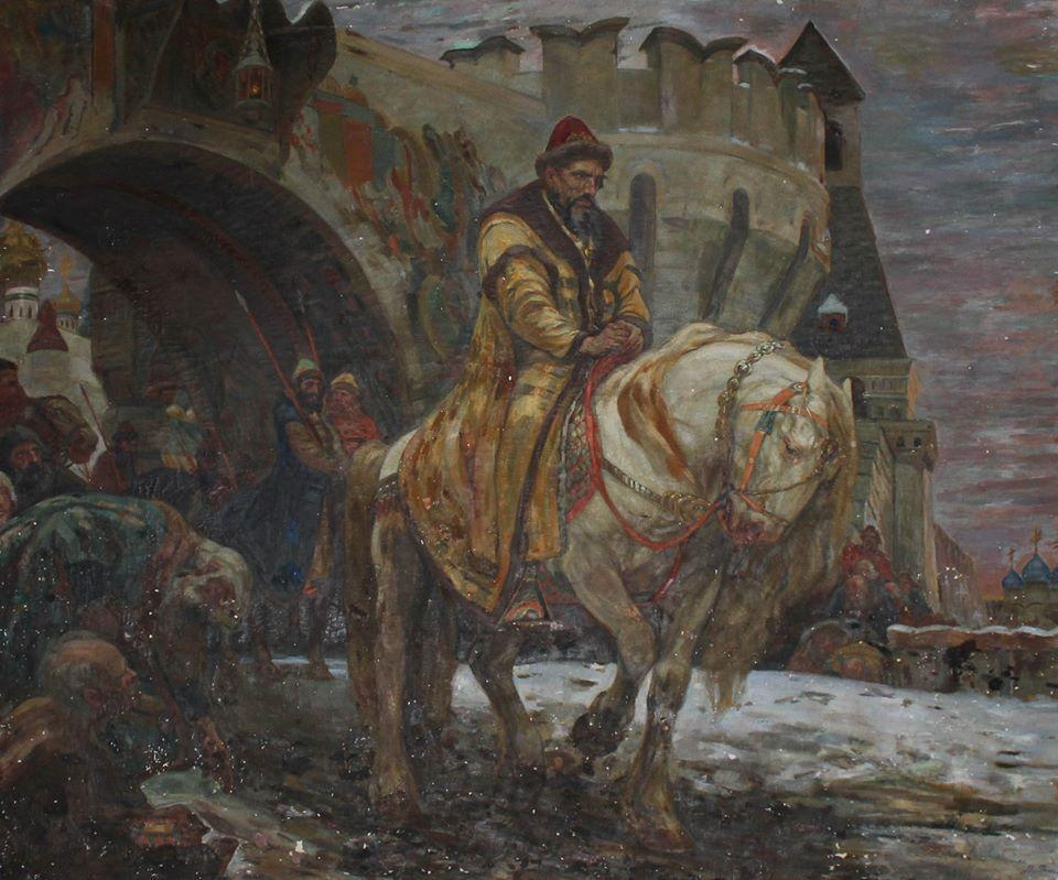 """""""Secret Departure Of Ivan The Terrible Before The Oprichnina"""" / Photo from Ukraine's Embassy in the United States"""
