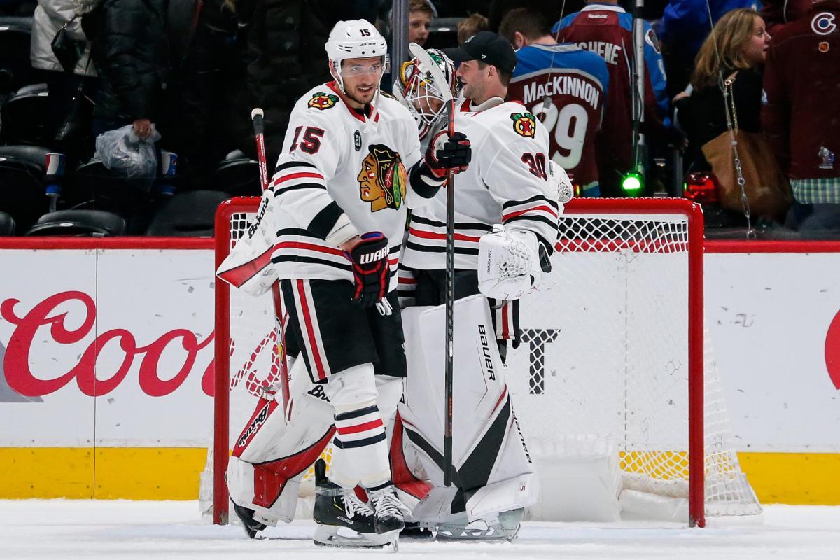 Анисимов и Делиа стали гланвми героями победного матча Чикаго / Reuters