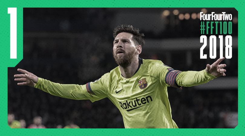 Лионель Месси возглавил очередной рейтинг мирового футбола / fourfourtwo.com/fft100