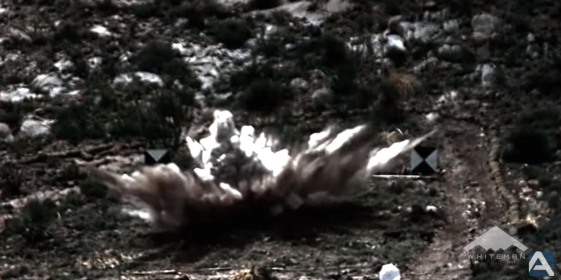 Масса авиабомбы составляет более 13 т \ скриншот с видео