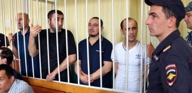 Политзаключенные крымские татары в российском суде/ Фото ATR