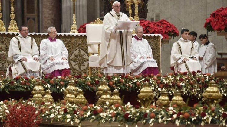 Папа проповідує під час різдвяної Святої Меси / Vatican Media