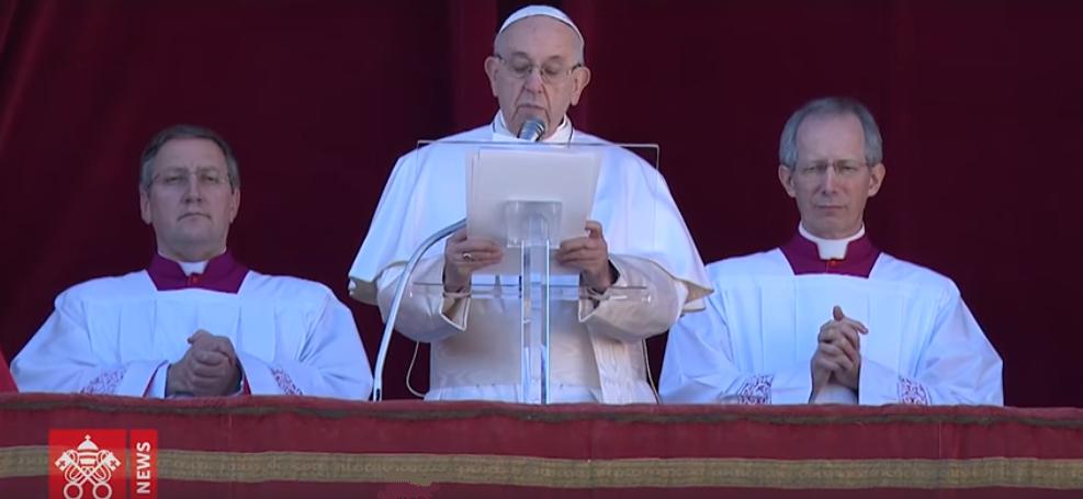 Папа Римский зачитывает Рождественское послание / vaticannews.va