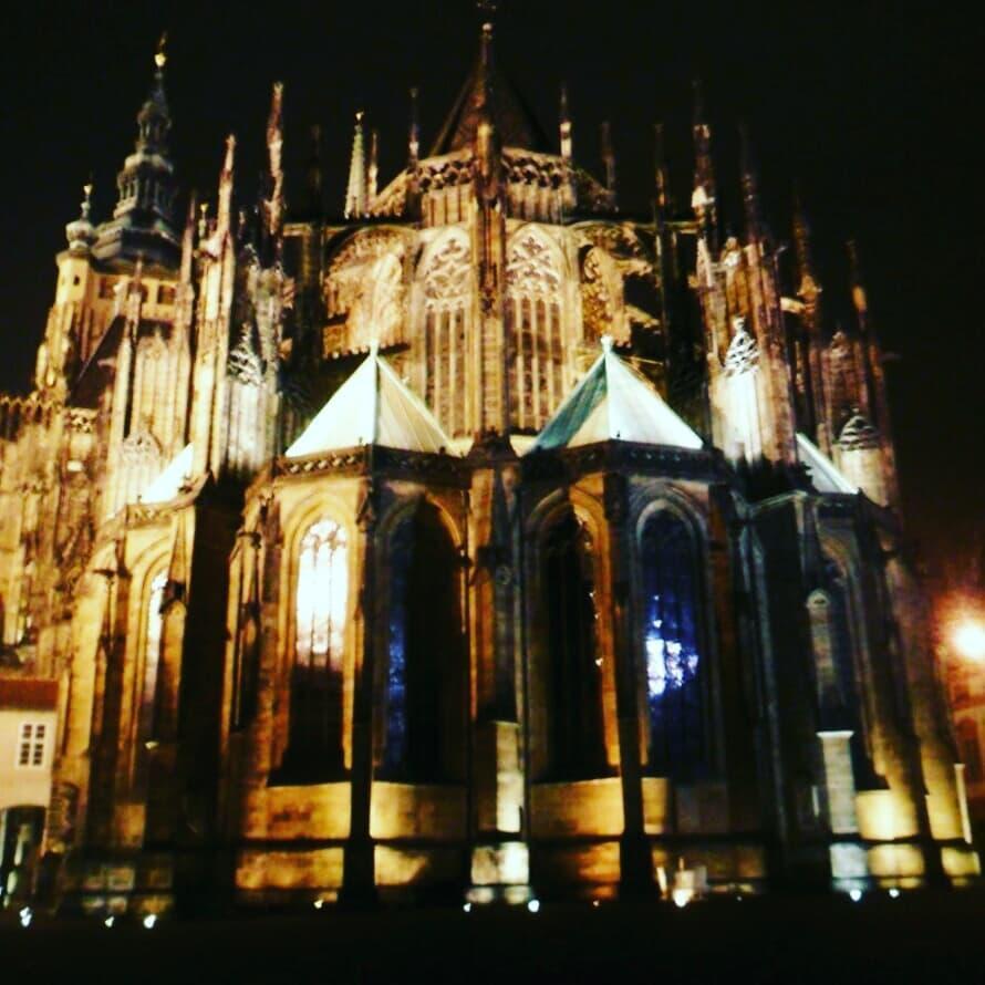 Собор святого Вита ночью / фото: Ольга Броскова