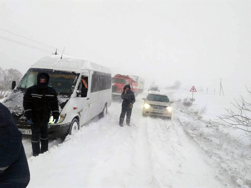 На Тернопільщині ще жодного разу не зупиняли рух транспорту / фото ГСЧС