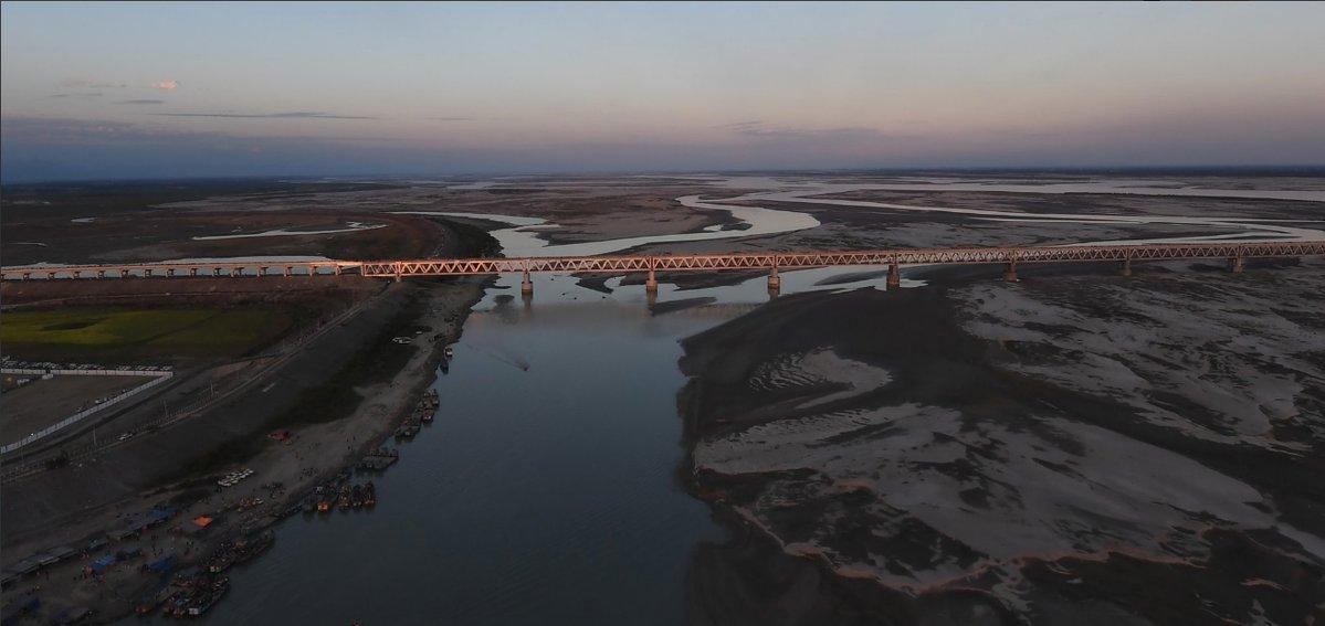 В Індії відкрили найдовший україні міст / фото twitter.com/DrGPradhan