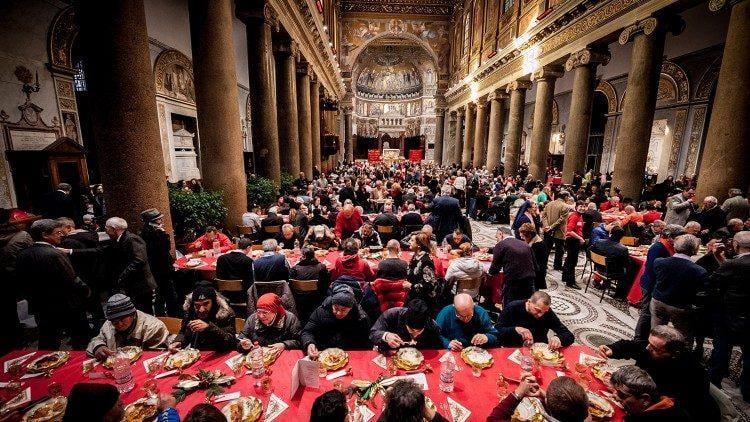 Різдвяний обід в базиліці Санта-Марія-ін-Трастевере / vaticannews.va
