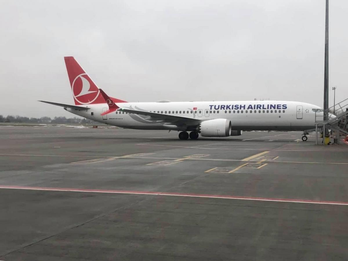 Во Львове самолет Turkish Airlines выкатился за пределы посадочной полосы / фото facebook/LvivAirport