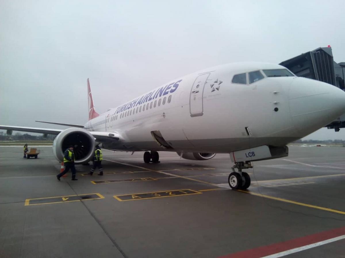 Turkish Airlines отменила полеты в Италию / фото facebook / LvivAirport