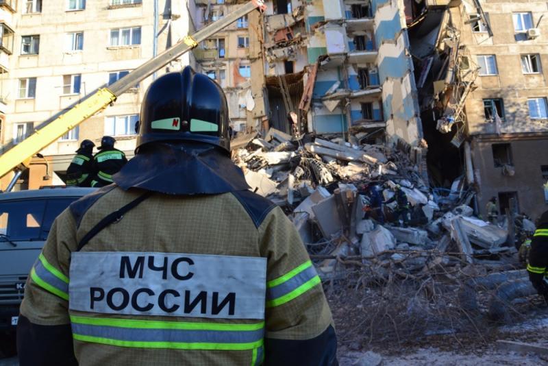 Из-под завалов дома в Магнитогорске достали тела 16 погибших / фото mchs.gov.ru