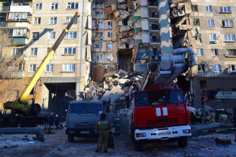 У МЗС поки не пдтверджують зникнення українки внаслідок обвалу будинку у Магнітогорську / фото mchs.gov.ru