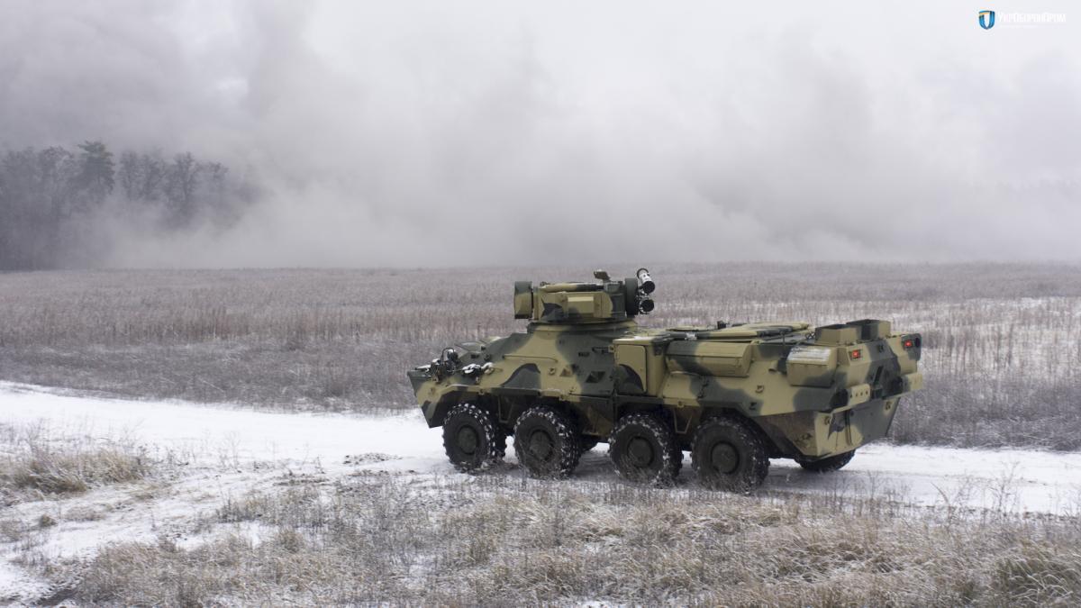 BTR-3 experimental hull from NATO steel / Ukroboronprom