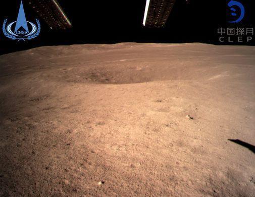 Китайський зонд надіслав перший знімок зі зворотного боку Місяця / фото GGTN