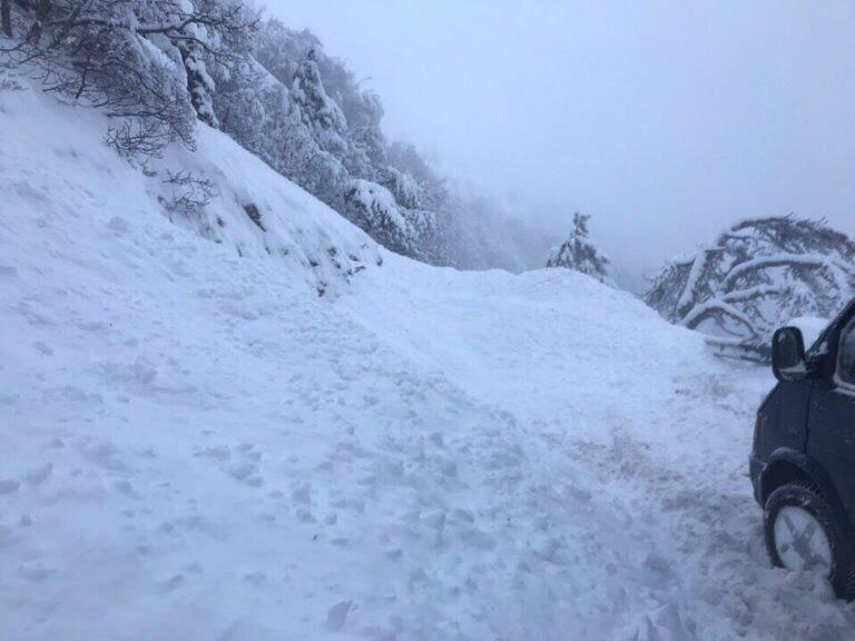 Сходження лавини сталося на Ай-Петрі / фото vk.com/citysudak