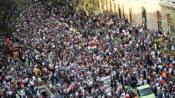 Субботнюю акцию протеста организовали оппозиционные партии, профсоюзы и общественные группы / MTVA