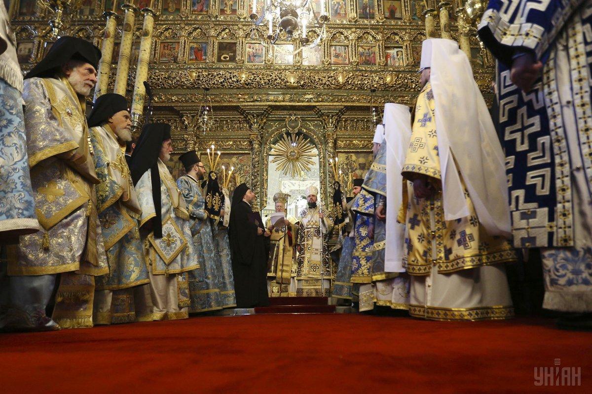 Вселенский патриарх Варфоломей вручил томос о предоставлении автокефалии ПЦУ / фото УНИАН