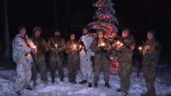 Появилось видео приветствий украинских военных с Рождеством / скриншот из видео ООС