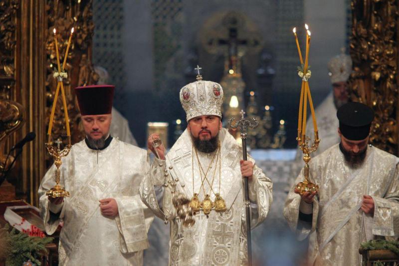 В Софийском соборе проходит Рождественская литургия / фото Виталий Носач, РБК-Украина