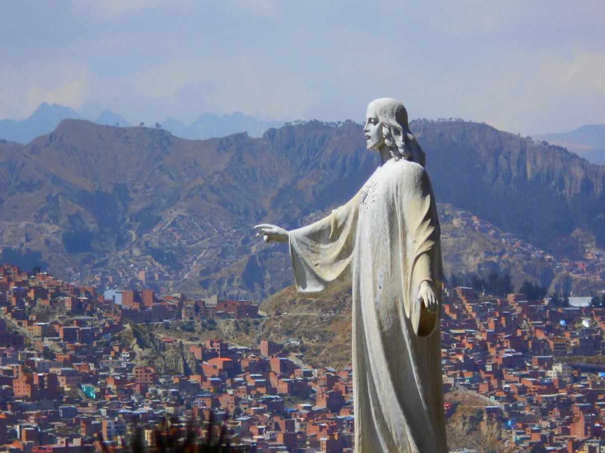 Статуя Христа в Ла-Пасі, столиці Болівії / Фото Олександр Волощук
