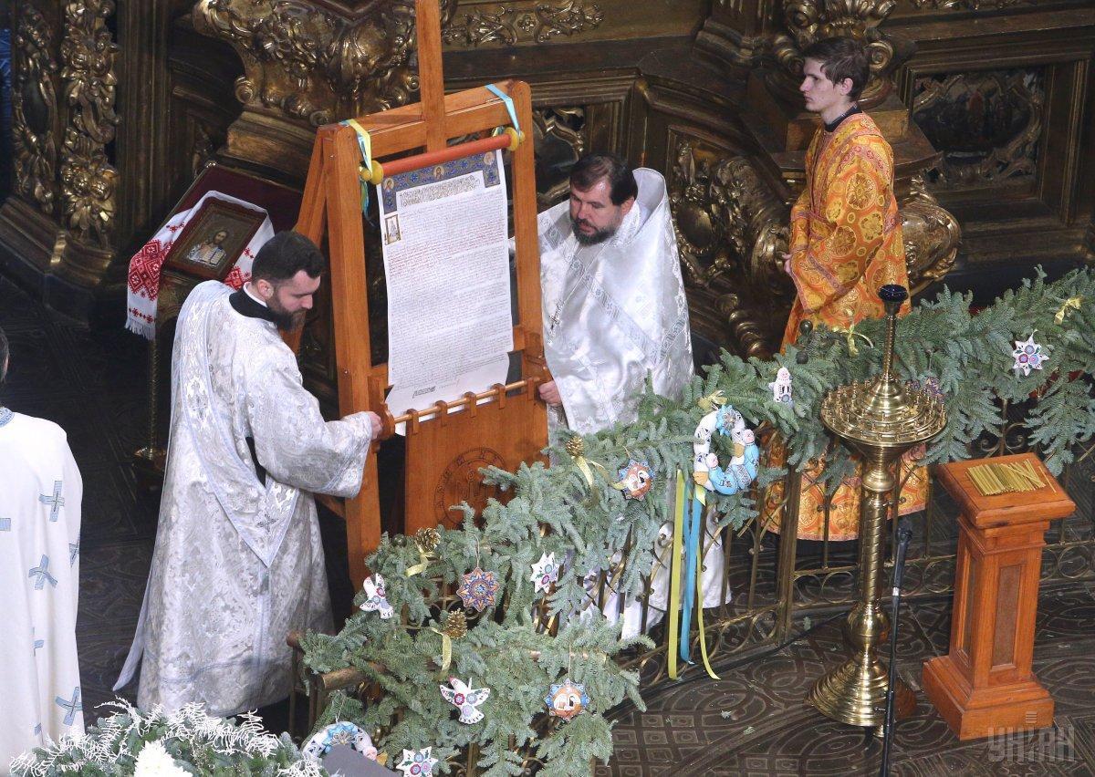 Украинская православная церковь получила томос 6 января / фото УНИАН