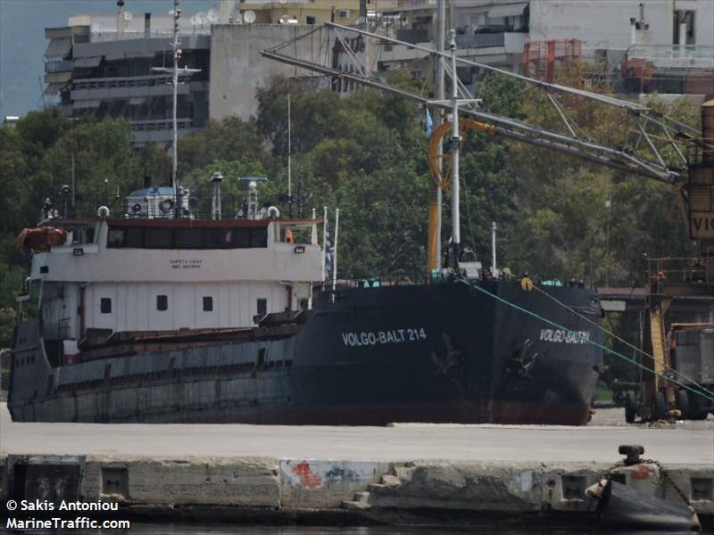 Судно VOLGO-BALT 214 / фото MarineTraffic.com