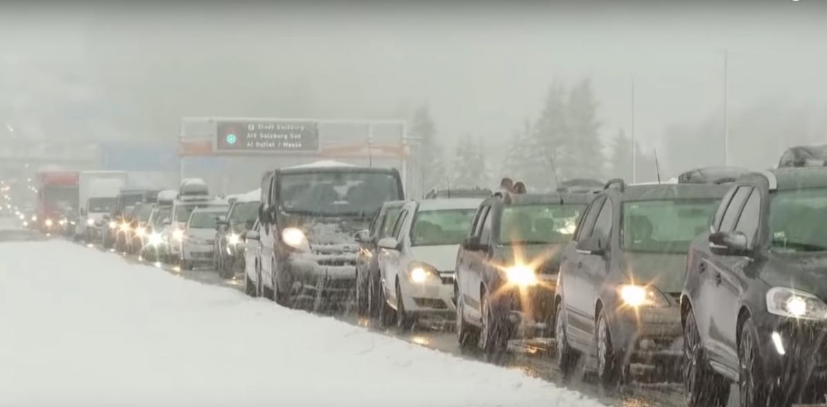 Германию накрыли снегопады / youtube.com/WELT
