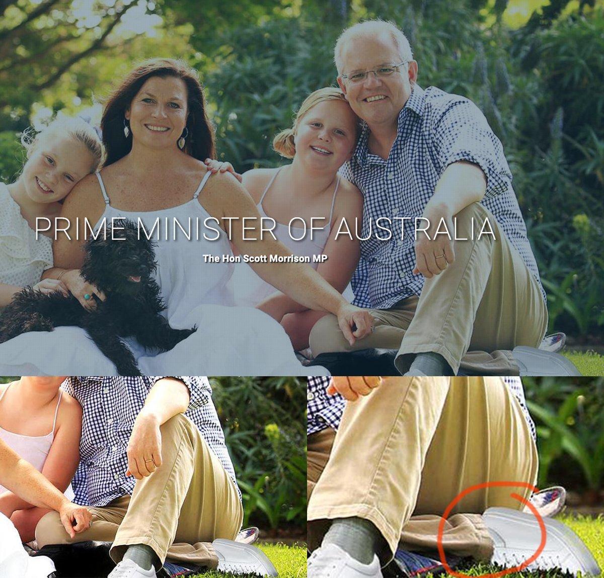 Соцсети нашли странное фото на сайте премьера Австралии / Twitter - @lukerhn
