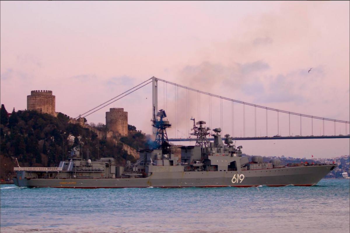 Корабель увійшов до Чорного моря 9 січня / фото facebook.com/Андрій Клименко