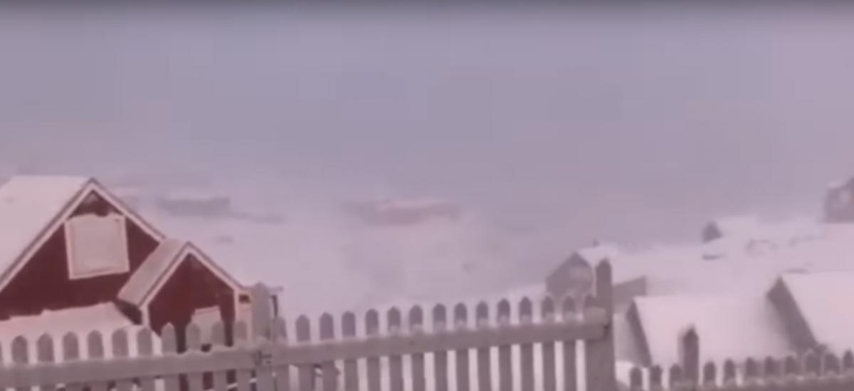 В Гренландии бушует питерак / youtube.com/KNR News Nutaarsiassat