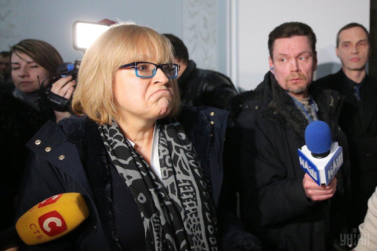 Амосова вновь штурмовала НМУ им. Богомольца / фото УНИАН