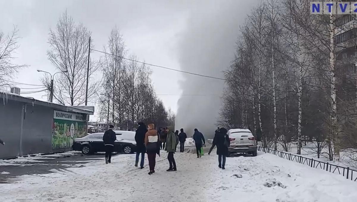 В зону прорыва на Шуваловском попали 75 зданий / скрин видео