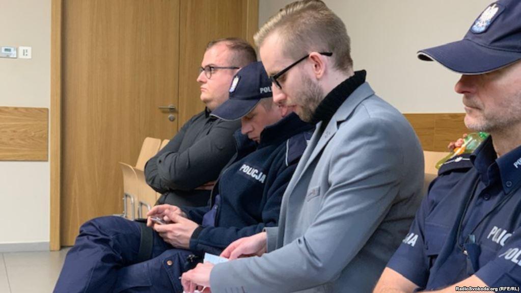 Міхал Прокопович (у сірому піджаку) на засіданні суду 14 січня 2019 року / фото radiosvoboda.org