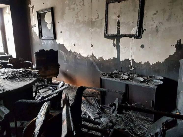 Поджогофиса 27февраля 2018 года/ фото zak.gp.gov.ua