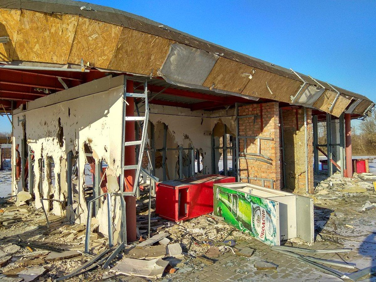 Руины возле Донецкого аэропорта / twitter.com/Bylbyleva2019
