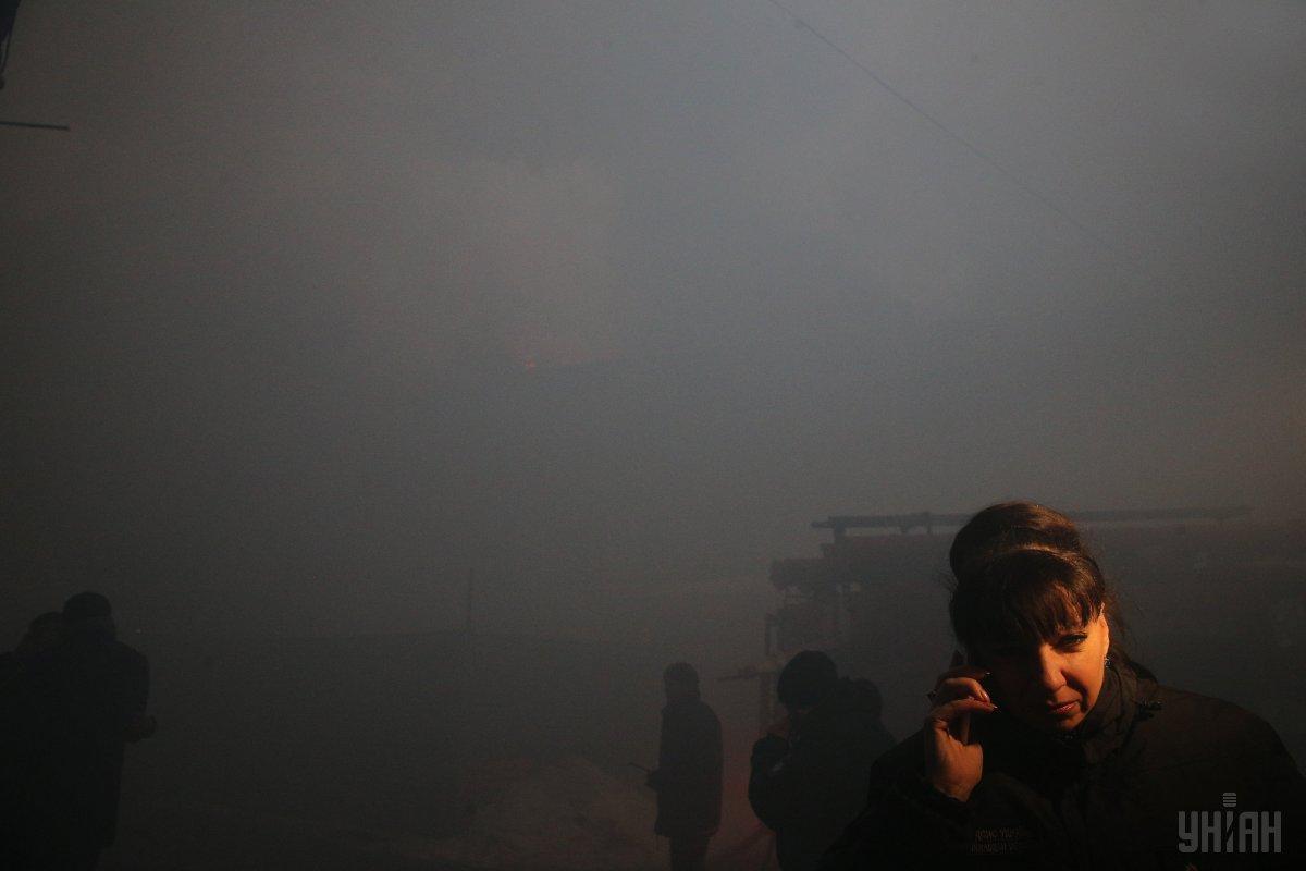 Спасатели локализовали пожар на Крещатике / фото УНИАН