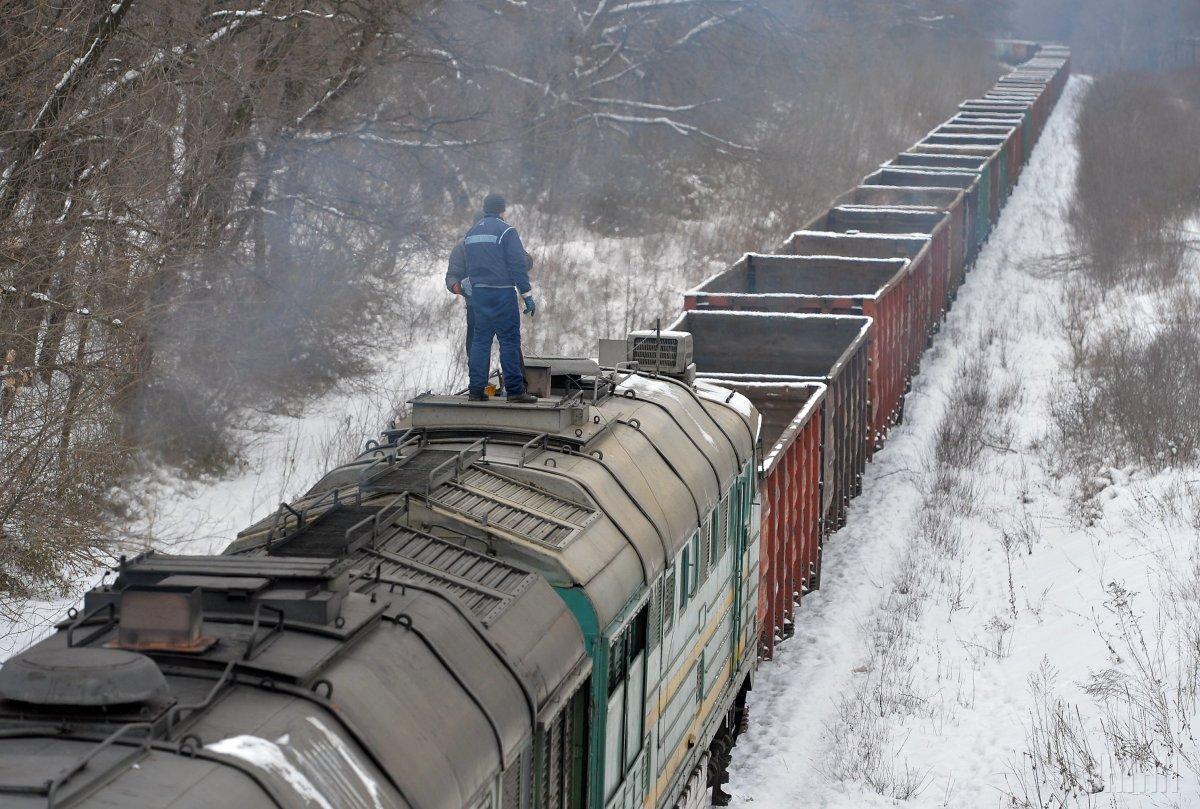 В Киевской области сошел с рельсов грузовой поезд / фото УНИАН