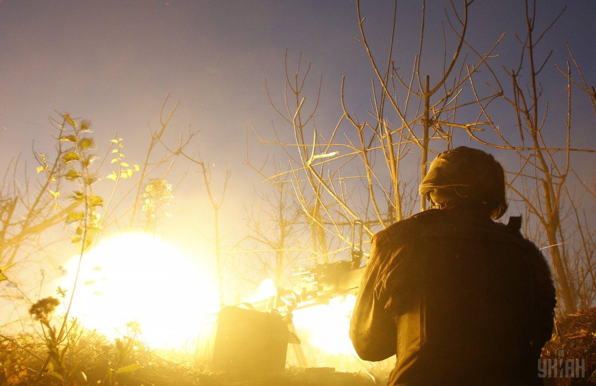 В районе Широкино украинские позиции попали под огонь из минометов калибра 120 мм / фото УНИАН