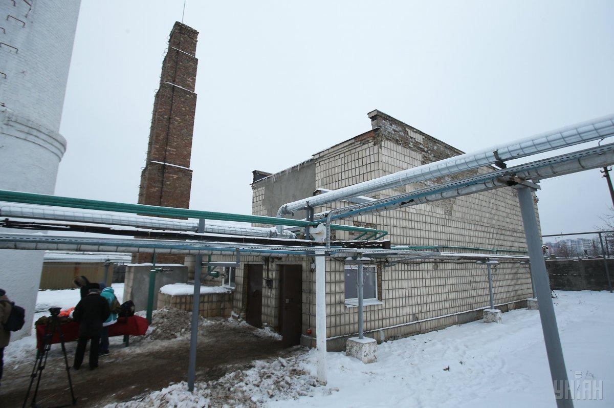 Помещение для хранения хлора на Деснянской водопроводной станции в Киеве / фото УНИАН