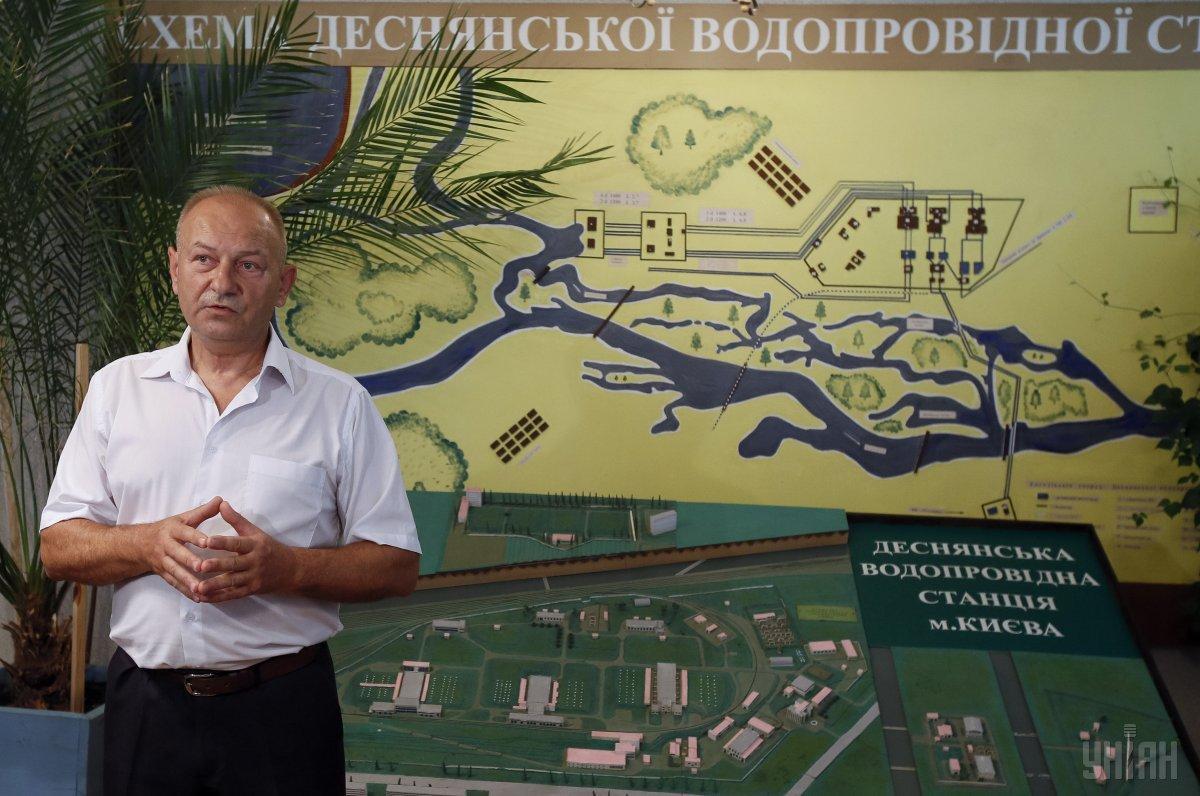 главный инженер Департамента эксплуатации водопроводного хозяйства «Киевводоканала» Владимир Костюк / фото УНИАН