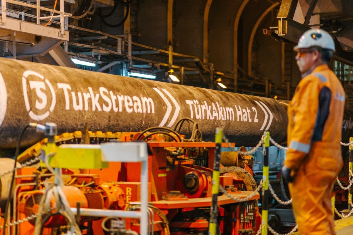 Першу гілку «Турецького потоку» почали заповнювати газом / фото gazprom.ru