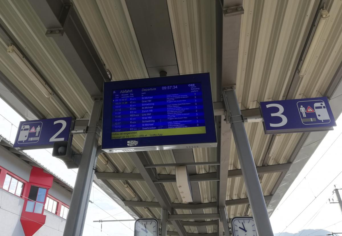 В Австрии нужно быть очень внимательным, чтоб не сесть не на тот поезд / Фото Марина Григоренко