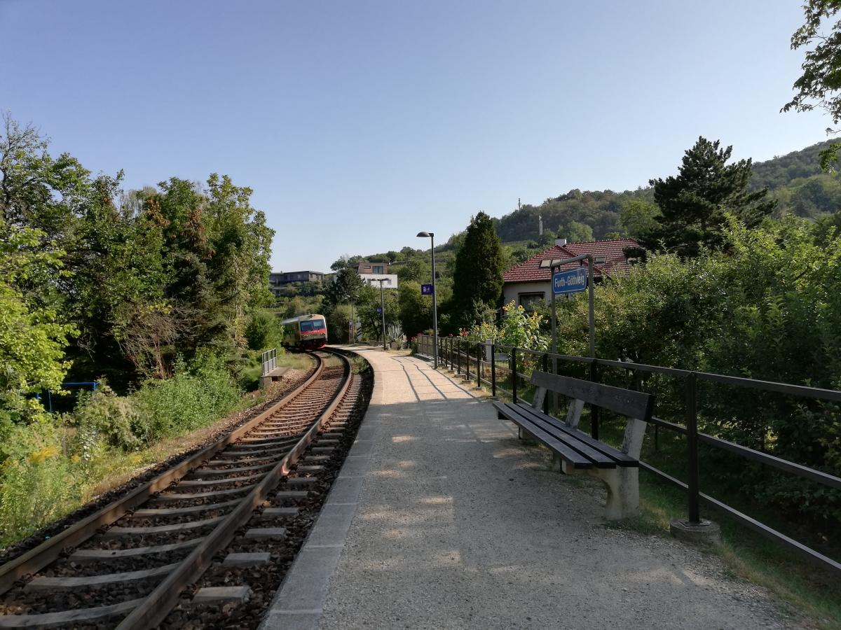 """На маленьких жд/станциях в Австрии поезда нужно буквально """"ловить"""" / Фото Марина Григоренко"""