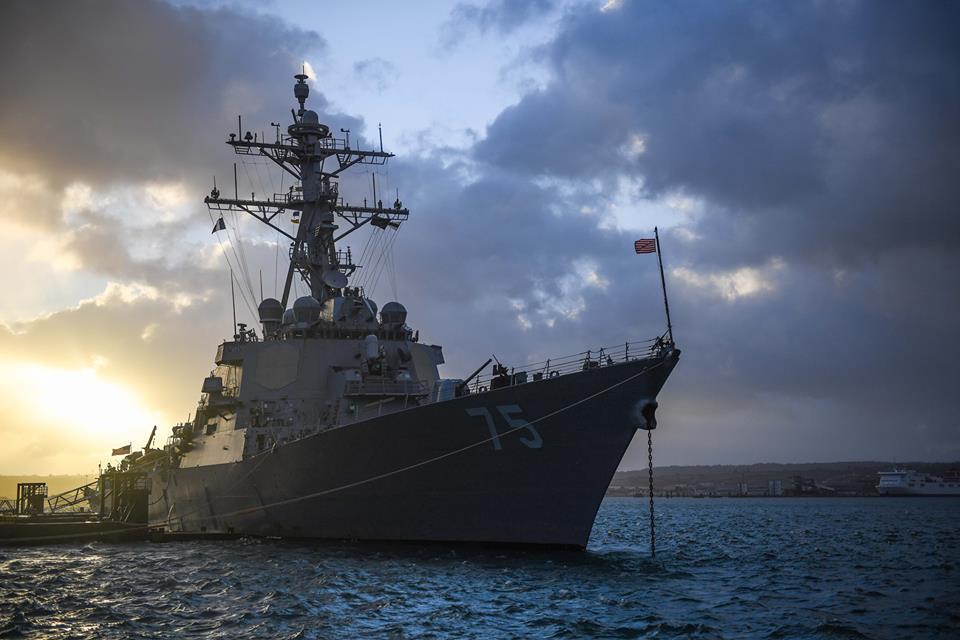 Американский ракетный эсминец USS «Donald Cook» / фото facebook.com/USSDonaldCook/