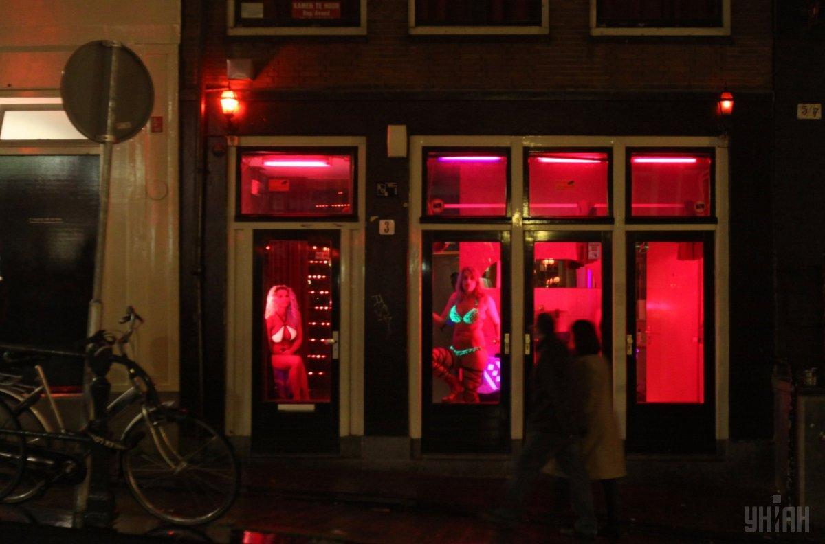 Квартал красных фонарей в Амстердаме / фото УНИАН